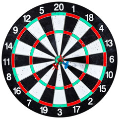 dart board with three arrows