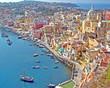 canvas print picture - Insel Procida, Golf von Neapel