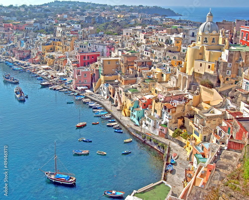 canvas print picture Insel Procida, Golf von Neapel