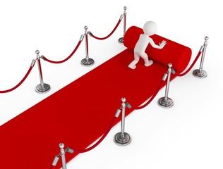 roten teppich ausrollen