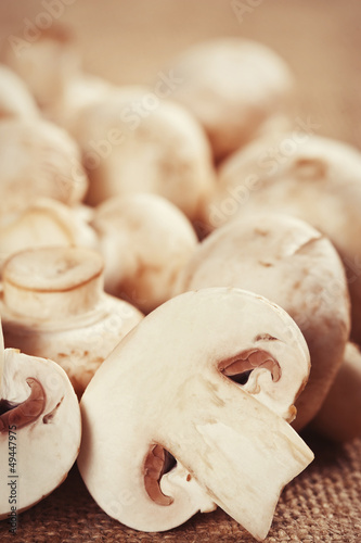 Raw mushrooms