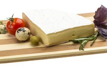 Wedge of Gourmet Brie Cheese