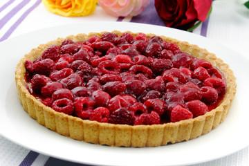 Raspberry tart - Himbeertarte