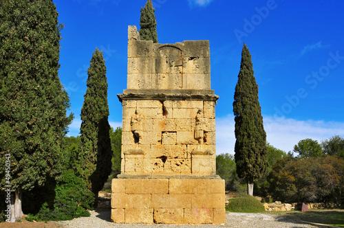 ancient roman Torre dels Escipions in Tarragona, Spain