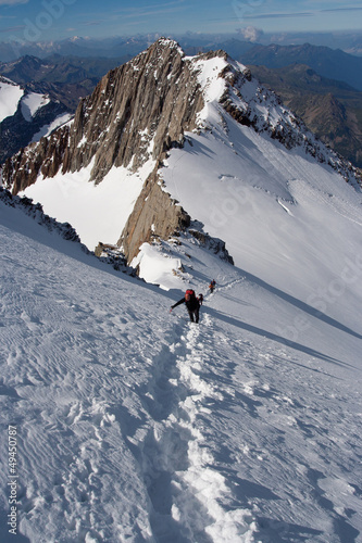 Climbers at mountains