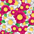 Spring vibrant flowers pattern