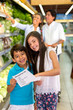 Kids with shopping list