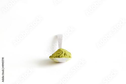 Matcha japanese green tea, finely milled powder, from Japan