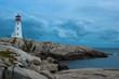 Peggys Point Lighthouse at dusk, Nova Scotia - 49452188