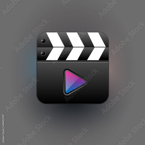 User interface media player Icon