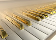 Leinwandbild Motiv Gold Piano