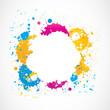 colorful grunge splash doodles