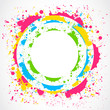 Colorful paint splash circle