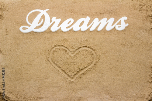 Dreams on the sandy beach.