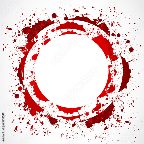 grunge red splash circle