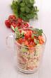 quinoa with tomato and cucumber