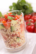 quinoa with tomato and cucumber