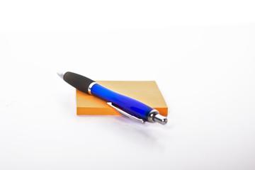 Stift mit Notizblock