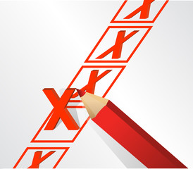 illustration design of x mark