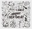 doodle birthday element
