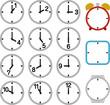 1時間ごとの時計と枠