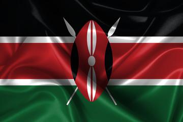 Wavy Flag of Kenya