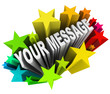 Your Message in Fun Exciting Starburst Fireworks