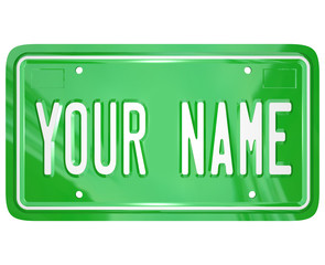 Your Name License Plate Personalized Vanity Badge