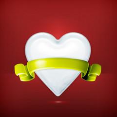 White heart, award