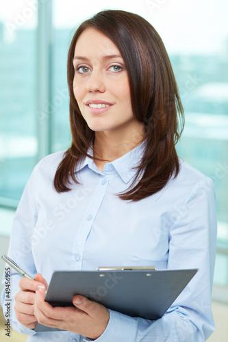 Elegant secretary