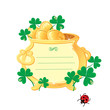 St. Patrick's design - frame is made of  gold pot