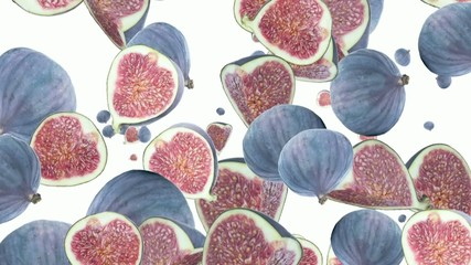 Falling Figs as background video (with Alpha)