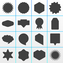 16 Grey Onlineshop Badges Buttons Overlays Symbols