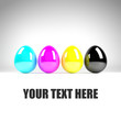 CMYK Easter Eggs - Textspace