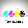 CMYK Easter Eggs - Textspace