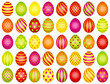 40 Colored Easter Eggs Pattern Green