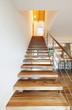 modern loft, staircase view