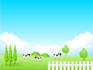 牧場 牛 背景 高原