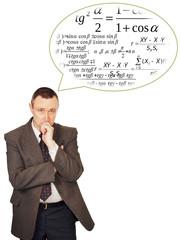 Scientist is thinking