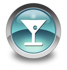 "Light Blue Glossy Pictogram ""Bar / Cocktail"""