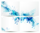Fototapety Brochure backgrounds with Abstract blue elements