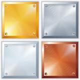 Vector Shiny Metal Signs. Vector EPS 10