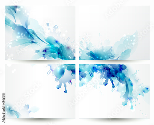 Brochure backgrounds with Abstract blue elements