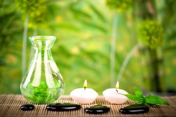 Wellness Konzept in natürlicher Umgebung
