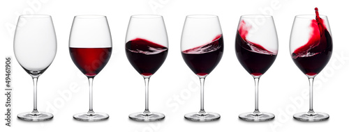 Red wine splash collection - 49461906
