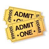 pair of yellow cinema tickets