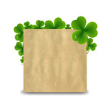 Vintage Banner With Green Clover