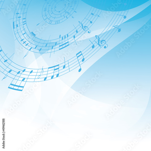 abstract light musical vector background