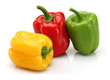 Yellow, red and green bell pepper group