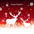 abstract vector Christmas banner with reindeer